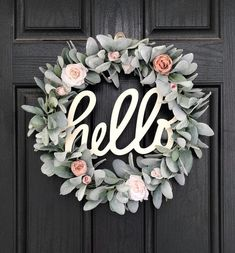 Excited to share this item from my shop: Spring Wreath for Front Door, Hello Wreath, Lambs Ear Wreath, Welcome Spring Wreaths, Blush Decor - New Deko Sites Decoration Entree, Lambs Ear, Deco Floral, Welcome Wreath, Welcome Decor, Front Door Decor, Front Porch, Door Entry, Front Doors