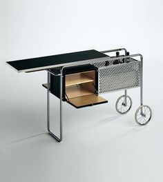 Alfred Roth; Drinks Trolley for Embru, 1930s.