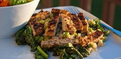 Kale and Crispy Chik'n Salad