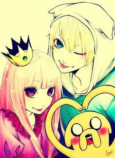 Finn, Princess Bubblegum, and Jake