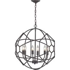 Chandelier with a metal openwork shade.   Product: ChandelierConstruction Material: MetalColor: A...