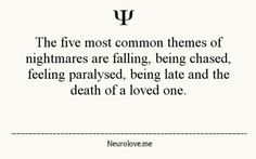 Psychology Facts. I'm ALWAYS late in my dreams and it scares me more than it should.