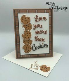 Stampin' Up! Nothing's Better Than Cookies   Stamps – n - Lingers Some Cards, Get Well Cards, Fun Cards, Diy Best Friend Gifts, Chocolate Card, Coffee Cards, Embossed Cards, Scrapbook Cards, Scrapbooking