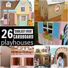 coolest ever cardboard playhouses
