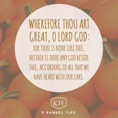 KJV Verse of the Day: 2 Samuel 7:22