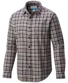 Columbia Men's Vapor Ridge Iii Plaid Shirt - Black S Casual Button Down Shirts, Casual Shirts, Plaid Fabric, Air Purifier, Columbia, Men Casual, Mens Tops, Nick Miller
