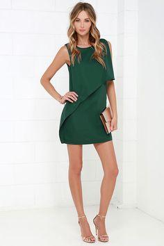 Dar un vestido verde Little Love oscura en Lulus.com!