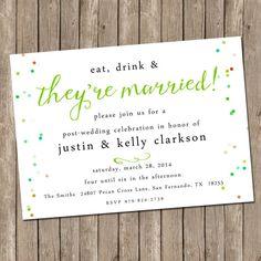 Wedding Brunch Invitation  bridesmaids luncheon by peachymommy