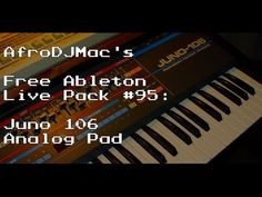 Juno 106 Analog Pad for Ableton Live - YouTube