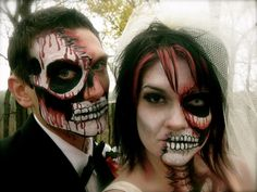 Dead bride and groom makeup