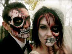 Dead bride and groom makeup