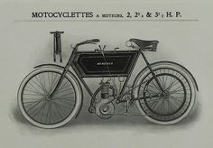 1905 Minerva mono cylindre motorcycle