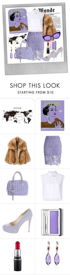 """""""Travel bound"""" by li-maison ❤ liked on Polyvore featuring Polaroid, Chicwish, Versace, Helmut Lang, Brian Atwood, Clinique, MAC Cosmetics, Belk & Co. and Italia Independent"""
