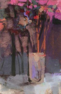 "Gray Bouquet. 2015. Pastel. 9.75"" x 6.5."" Casey Klahn."