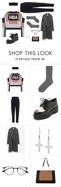 """""""// D A N A //"""" by luhansolo ❤ liked on Polyvore featuring Hood by Air, Uniqlo, Jeffrey Campbell, Zara, West Coast Jewelry, Ray-Ban and Nine West"""