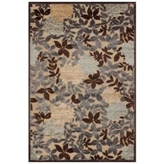 "Grand Bazaar Power Loomed Viscose Sofra Rug in Ivory/Dark Gray 7'-6 X 10'-6"" - 7'-6"" x 10'-6"" (""Ivory Dark Gray), Beige Off-White, Size 7'-6"" x 10'-6"" (Synthetic, Graphic)"