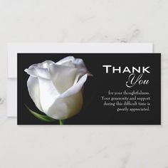 Sympathy / Funeral Thank You Photo Card   Zazzle.com Sympathy Thank You Cards, Thank You Note Cards, Custom Thank You Cards, Wedding Thank You Cards, Sympathy Messages, Sympathy Quotes, Card Wedding, Custom Cards, Thank You Photos