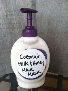 Best DIY Hair Masks And Face Masks : Coconut milk and honey hair mask! For growth and hair loss!