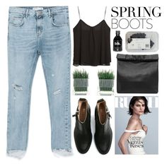 """Spring Boots - Polyvore Contest"" by evangeline-lily ❤ liked on Polyvore featuring Zara, Acne Studios, MANGO, Marie Turnor and springboots"