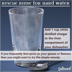 a quick easy solution for hard water marks - dishwasher rinse