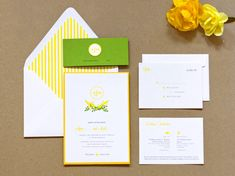 Wedding Invitations by Lavender Blue via Oh So Beautiful Paper (10)