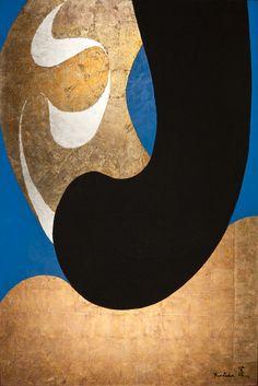 Kenji Yoshida (24 May 1924 - 24 February 2009) - La Vie, 1992. Metals and oil on canvas. S)
