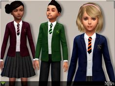 Sims Addictions: Child School Uniforms by Margies Sims • Sims 4 Downloads