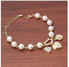 Link chain heart love bangle woman bracelet