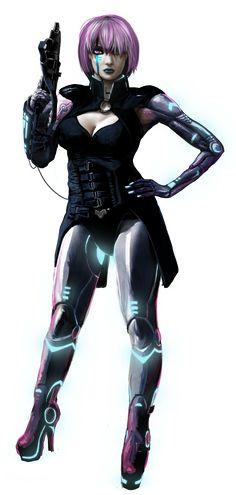 Shadowrun Female Decker by raben-aas on DeviantArt