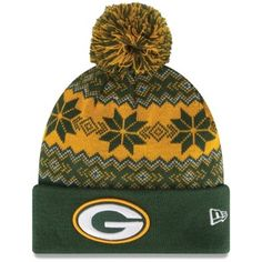 Green Bay Packers New Era Snowburst Knit Beanie – Green Gold Green Bay  Packers Hat 953e11c6eb9c