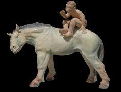 Le Secret : Sandra Courlivant Horse Sculpture, Equine Art, Pure Beauty, Four Legged, Figurative, Horses, Ceramics, Statue, Pure Products