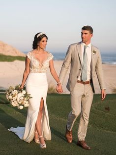 All the details on Nicole Phelps' wedding dress for her wedding to Michael Phelps - click through for more photos!