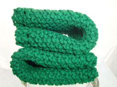 Green Knitted Dish Cloths for Kitchen and Bath by by CherylsKnits, $6.00