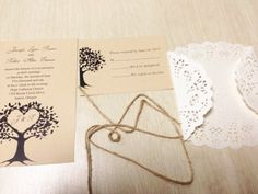 DIY Country Rustic Lace Wedding Invitations at InvitesWeddings.com - InvitesWeddings.com