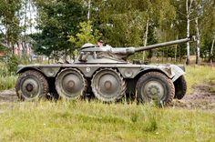 French made Panhard EBR armoured car still running. Postwar era Vintage