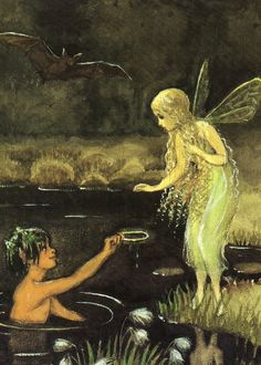 ≍ Nature's Fairy Nymphs ≍ magical elves, sprites, pixies and winged woodland faeries - Elsa Beskow