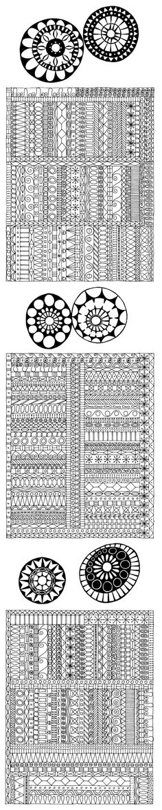 border sampler by Miriam Badyrka (The Doodler) - whether she meant to do that or not ;)Awesome border sampler by Miriam Badyrka (The Doodler) - whether she meant to do that or not ; Tangle Doodle, Tangle Art, Zen Doodle, Doodle Art, Doodle Borders, Doodle Patterns, Zentangle Patterns, Fun Patterns, Zentangle Drawings