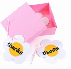FREE Shape of the Week from Silhouette Online Store: box and flower tags