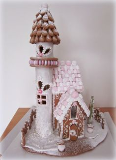 Gingerbread princess castle.
