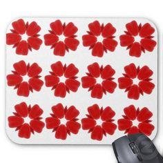Cherry Red Petals Mousepad