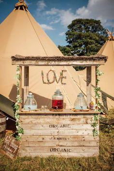 """The service we had from Sami Tipi was fantastic from start to finish. Tipi Wedding, Garden Wedding, Lemonade Bar, Lemonade Stand Wedding, Matt Brown, Wedding Inspiration, Wedding Ideas, Real Weddings, Gazebo"