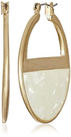 "Kenneth Cole New York ""Palm Desert"" White Shell Hoop Earr... https://www.amazon.com/dp/B01AUPEIUW/ref=cm_sw_r_pi_dp_FvbBxbZGSN5FV"