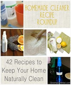 42 Homemade Cleaner Recipes To Keep Your Home Naturally Clean | Herbs And Oils