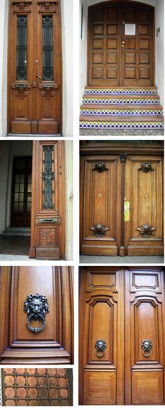 wood doors in Buenos Aires      http://www.swanzun.com/blog/wp-content/uploads/2011/07/BAwood-doors.jpg