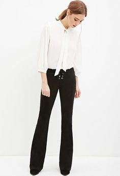 Lace-Up Flared Pants | Forever 21 - 2000146009