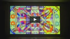 "Ben Jones  Cinema Painting III, 2015 Acrylic on canvas with digital projection  144"" (H) x 256"" (W)  acegallery.net/live.php Ben Jones, Digital Projection, Cinema, Live, Canvas, Painting, Tela, Movies, Painting Art"