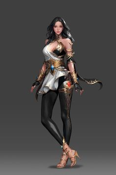 LUTHIEL_character concept, kim ssang on ArtStation… Female Character Design, Character Design Inspiration, Character Art, Fantasy Female Warrior, Female Art, Woman Warrior, Fantasy Art Women, Fantasy Girl, Fantasy Characters