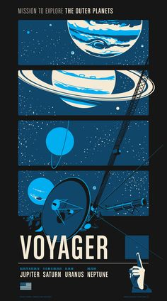 """""""Voyager"""" by Chop Shop.  20"""" x 36"""" 3-color Screenprint.  Ed of 400.  $55"""