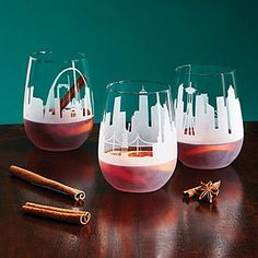 These etched wine glasses feature your city skyline wrapped in panorama. Created by Stephanie Miller, who was inspired by her own hometown of Baltimore. 29 real city skylines to choose from. Beer Brewing Kits, Home Brewing, Wine Finder, Etched Wine Glasses, Wine Decanter, Order Wine Online, Cool Gifts, Unique Gifts, Glass Jewelry