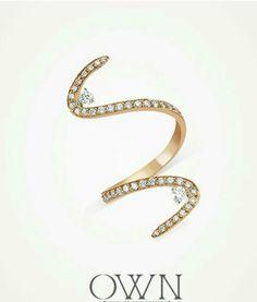 Twirl | Diamond Gold Ring
